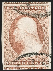Sale Number 1231, Lot Number 29, 1851-56 Issue (Scott 5-17)3c Dull Red, Ty. II (11A), 3c Dull Red, Ty. II (11A)