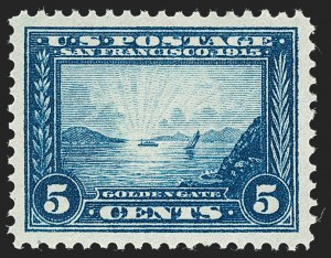 Sale Number 1231, Lot Number 309, 1913-15 Panama-Pacific Issue (Scott 397-404)5c Panama-Pacific (399), 5c Panama-Pacific (399)
