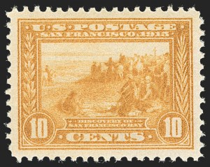 Sale Number 1231, Lot Number 310, 1913-15 Panama-Pacific Issue (Scott 397-404)10c Orange Yellow, Panama-Pacific (400), 10c Orange Yellow, Panama-Pacific (400)