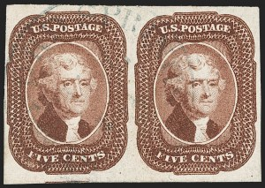 Sale Number 1231, Lot Number 32, 1851-56 Issue (Scott 5-17)5c Red Brown (12), 5c Red Brown (12)