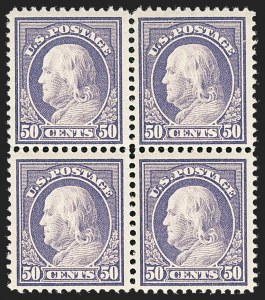 Sale Number 1231, Lot Number 333, 1912-14 Washington-Franklin Issue (Scott 405-423)50c Violet (421), 50c Violet (421)