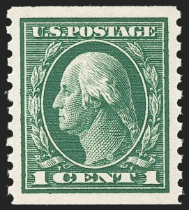Sale Number 1231, Lot Number 359, 1913-15 Washington-Franklin Issues (Scott 424-461)1c Green, Coil (443), 1c Green, Coil (443)