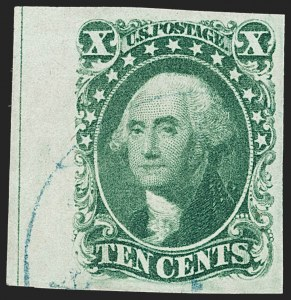 Sale Number 1231, Lot Number 36, 1851-56 Issue (Scott 5-17)10c Green, Ty. II (14), 10c Green, Ty. II (14)
