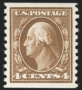 Sale Number 1231, Lot Number 363, 1913-15 Washington-Franklin Issues (Scott 424-461)4c Brown, Coil (446), 4c Brown, Coil (446)