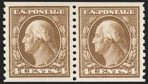 Sale Number 1231, Lot Number 364, 1913-15 Washington-Franklin Issues (Scott 424-461)4c Brown, Coil (446), 4c Brown, Coil (446)