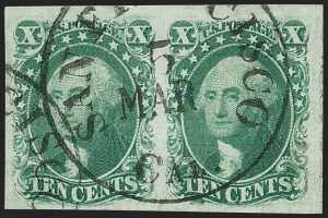 Sale Number 1231, Lot Number 39, 1851-56 Issue (Scott 5-17)10c Green, Ty. III (15), 10c Green, Ty. III (15)