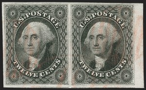 Sale Number 1231, Lot Number 43, 1851-56 Issue (Scott 5-17)12c Black (17), 12c Black (17)
