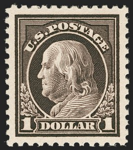 Sale Number 1231, Lot Number 458, 1917-19 Issues (Scott 481-524)$1.00 Violet Brown (518), $1.00 Violet Brown (518)