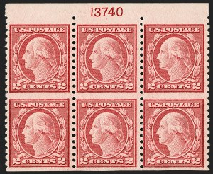 Sale Number 1231, Lot Number 486, 1919-20 Issues (Scott 537-550)2c Carmine Rose, Ty. III, Rotary Perf 11 x 10, Vertical Pair, Imperforate Horizontally (540a), 2c Carmine Rose, Ty. III, Rotary Perf 11 x 10, Vertical Pair, Imperforate Horizontally (540a)