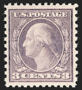 Sale Number 1231, Lot Number 487, 1919-20 Issues (Scott 537-550)3c Violet, Ty. II (541), 3c Violet, Ty. II (541)