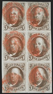 Sale Number 1231, Lot Number 5, 1847 Issue and 1875 Reproduction (Scott 1-4)5c Red Brown (1), 5c Red Brown (1)