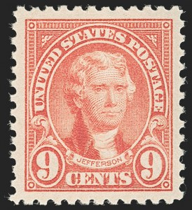 Sale Number 1231, Lot Number 503, 1922-38 Issues (Scott 553-634A)9c Rose (561), 9c Rose (561)