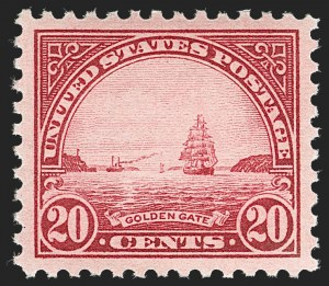 Sale Number 1231, Lot Number 507, 1922-38 Issues (Scott 553-634A)20c Carmine Rose (567), 20c Carmine Rose (567)