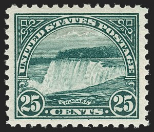 Sale Number 1231, Lot Number 508, 1922-38 Issues (Scott 553-634A)25c Yellow Green (568), 25c Yellow Green (568)