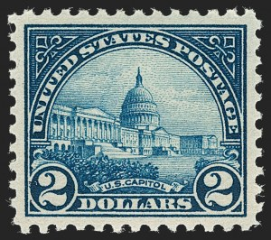 Sale Number 1231, Lot Number 513, 1922-38 Issues (Scott 553-634A)$2.00 Deep Blue (572), $2.00 Deep Blue (572)