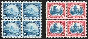 Sale Number 1231, Lot Number 515, 1922-38 Issues (Scott 553-634A)$2.00 Deep Blue, $5.00 Carmine & Blue (572-573), $2.00 Deep Blue, $5.00 Carmine & Blue (572-573)