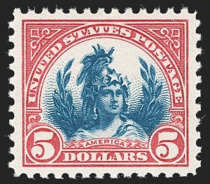 Sale Number 1231, Lot Number 516, 1922-38 Issues (Scott 553-634A)$5.00 Carmine & Blue (573), $5.00 Carmine & Blue (573)