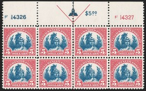 Sale Number 1231, Lot Number 517, 1922-38 Issues (Scott 553-634A)$5.00 Carmine & Blue (573), $5.00 Carmine & Blue (573)