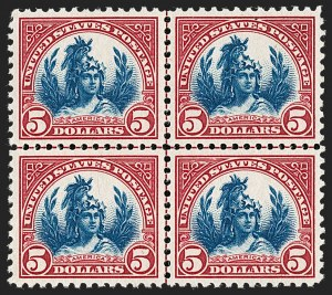 Sale Number 1231, Lot Number 519, 1922-38 Issues (Scott 553-634A)$5.00 Carmine Lake & Dark Blue (573a), $5.00 Carmine Lake & Dark Blue (573a)