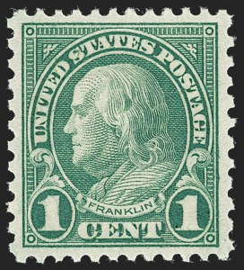 Sale Number 1231, Lot Number 520, 1922-38 Issues (Scott 553-634A)1c Green, Rotary (578), 1c Green, Rotary (578)