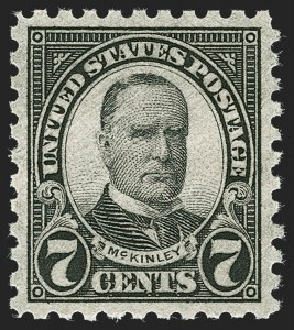 Sale Number 1231, Lot Number 526, 1922-38 Issues (Scott 553-634A)7c Black, Perf 10 (588), 7c Black, Perf 10 (588)