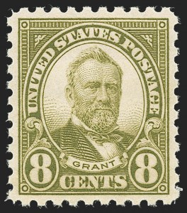 Sale Number 1231, Lot Number 527, 1922-38 Issues (Scott 553-634A)8c Olive Green, Perf 10 (589), 8c Olive Green, Perf 10 (589)