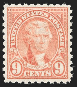 Sale Number 1231, Lot Number 528, 1922-38 Issues (Scott 553-634A)9c Rose, Perf 10 (590), 9c Rose, Perf 10 (590)
