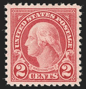 Sale Number 1231, Lot Number 530, 1922-38 Issues (Scott 553-634A)2c Carmine, Rotary, Perf 11 (595), 2c Carmine, Rotary, Perf 11 (595)