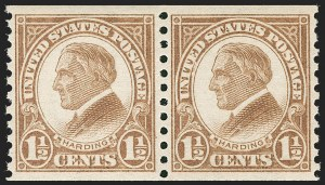 Sale Number 1231, Lot Number 532, 1922-38 Issues (Scott 553-634A)1-1/2c Brown, Coil (598), 1-1/2c Brown, Coil (598)