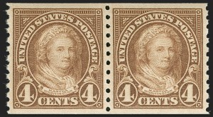 Sale Number 1231, Lot Number 535, 1922-38 Issues (Scott 553-634A)4c Yellow Brown, Coil (601), 4c Yellow Brown, Coil (601)