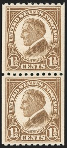 Sale Number 1231, Lot Number 538, 1922-38 Issues (Scott 553-634A)1-1/2c Yellow Brown, Coil (605), 1-1/2c Yellow Brown, Coil (605)