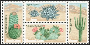 Sale Number 1231, Lot Number 612, Modern Errors20c Desert Plants, Block of Four, Deep Brown Omitted (1945b), 20c Desert Plants, Block of Four, Deep Brown Omitted (1945b)