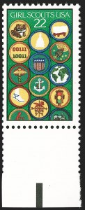 Sale Number 1231, Lot Number 614, Modern Errors22c Girl Scouts, Red & Black Engraved Omitted (2251b), 22c Girl Scouts, Red & Black Engraved Omitted (2251b)