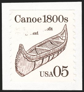 Sale Number 1231, Lot Number 616, Modern Errors5c 1800s Canoe, Gray Omitted (2453b), 5c 1800s Canoe, Gray Omitted (2453b)