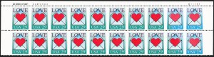 Sale Number 1231, Lot Number 619, Modern Errors29c Love, Horizontal Pair, Imperforate Vertically, Green Omitted (2618a, 2618b), 29c Love, Horizontal Pair, Imperforate Vertically, Green Omitted (2618a, 2618b)