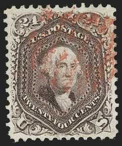 Sale Number 1231, Lot Number 85, 1861-66 Issue (Scott 62B-78)24c Red Lilac (70), 24c Red Lilac (70)