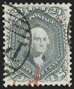 Sale Number 1231, Lot Number 87, 1861-66 Issue (Scott 62B-78)24c Steel Blue (70b), 24c Steel Blue (70b)