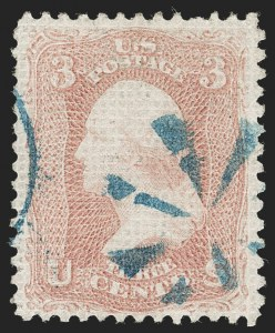 Sale Number 1231, Lot Number 99, 1867-68 Grilled Issue (Scott 79-101)3c Rose, A. Grill (79), 3c Rose, A. Grill (79)