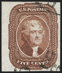 Sale Number 1232, Lot Number 1077, 1851-60 Issues (Scott 5-47)5c Red Brown (12), 5c Red Brown (12)