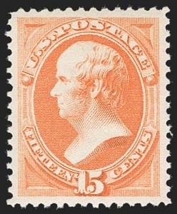 Sale Number 1232, Lot Number 1139, 1870-93 Bank Note Issue (Scott 134-229)15c Red Orange (189), 15c Red Orange (189)