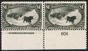 Sale Number 1232, Lot Number 1216, 1898 Trans-Mississippi Issue (Scott 285-293)$1.00 Trans-Mississippi (292), $1.00 Trans-Mississippi (292)