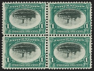 Sale Number 1232, Lot Number 1220, 1901 Pan-American Issue (Scott 294-299)1c Pan-American, Center Inverted (294a), 1c Pan-American, Center Inverted (294a)