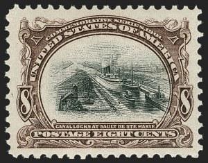 Sale Number 1232, Lot Number 1223, 1901 Pan-American Issue (Scott 294-299)8c Pan-American (298), 8c Pan-American (298)