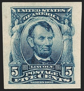 Sale Number 1232, Lot Number 1233, 1902-08 Issues (Scott 300-320)5c Blue, Imperforate (315), 5c Blue, Imperforate (315)