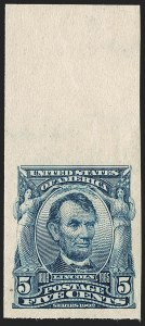 Sale Number 1232, Lot Number 1234, 1902-08 Issues (Scott 300-320)5c Blue, Imperforate (315), 5c Blue, Imperforate (315)