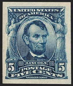 Sale Number 1232, Lot Number 1235, 1902-08 Issues (Scott 300-320)5c Blue, Imperforate (315), 5c Blue, Imperforate (315)