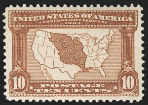 Sale Number 1232, Lot Number 1243, 1904 Louisiana Purchase, 1907 Jamestown Issues (Scott 323-330)10c Louisiana Purchase (327), 10c Louisiana Purchase (327)