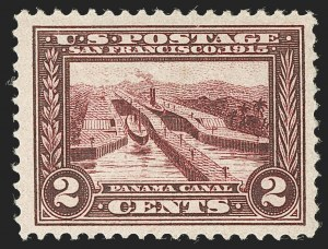 Sale Number 1232, Lot Number 1281, 1913-15 Panama-Pacific Issue (Scott 397-404)2c Lake, Panama-Pacific (398b), 2c Lake, Panama-Pacific (398b)