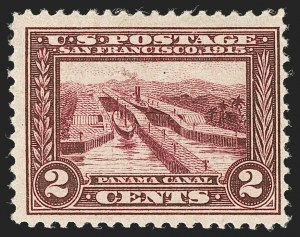 Sale Number 1232, Lot Number 1282, 1913-15 Panama-Pacific Issue (Scott 397-404)2c Lake, Panama-Pacific (398b), 2c Lake, Panama-Pacific (398b)