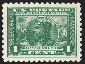 Sale Number 1232, Lot Number 1283, 1913-15 Panama-Pacific Issue (Scott 397-404)1c Panama-Pacific, Perf 10 (401), 1c Panama-Pacific, Perf 10 (401)